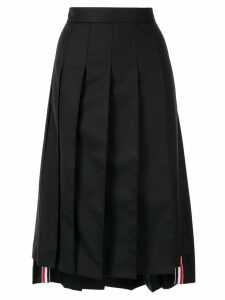 Thom Browne asymmetric pleated skirt - Black