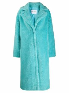 STAND STUDIO oversized faux fur coat - Blue