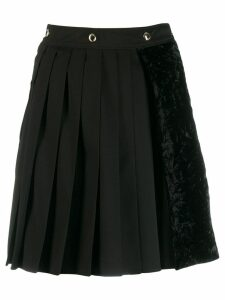 Versace Jeans Couture asymmetric pleated skirt - Black