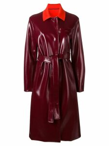 Emilio Pucci belted trench coat - Red