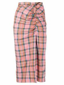 Vivetta tartan skirt - PINK