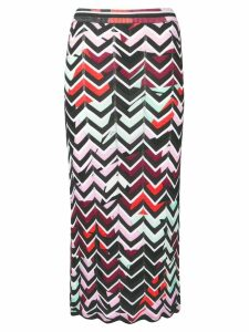 Emilio Pucci Alex Chevron-Knit Skirt - Black