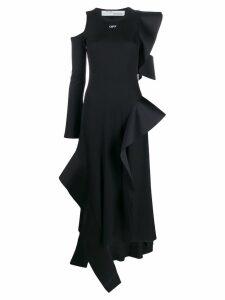 Off-White ruffled midi dress - Black