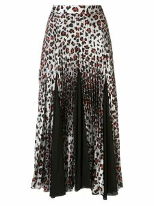 Marques'Almeida leopard-print pleated skirt - White