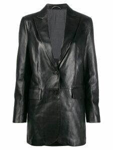 Ermanno Scervino stitched panels leather jacket - Black