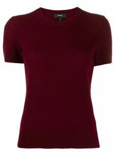 Theory short-sleeved cashmere top - Red