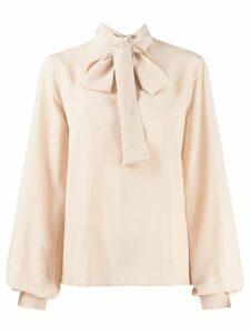 Calvin Klein bow detail blouse - Neutrals