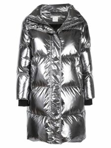 Alice+Olivia Julian oversized padded coat - Silver