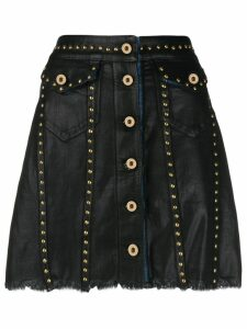 Versace Jeans Couture studded short skirt - Black