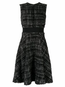 Paule Ka flared check dress - Black