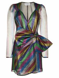 Attico bow detail mini dress - Blue