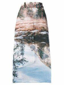 House of Sunny scenic print midi skirt - Neutrals