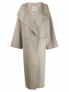 Toteme oversized trench coat - Grey