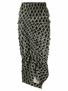Preen By Thornton Bregazzi printed midi skirt - Black