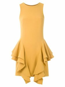 Olympiah frill panelled sleeveless dress - Yellow