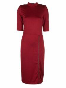 Alice+Olivia Inka side slit dress - Red