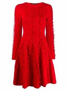 Antonino Valenti long sleeve knit dress - Red