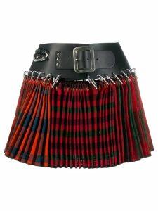Chopova Lowena belted wool mini skirt - Red