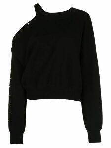 Alice+Olivia Michael open-shoulder sweatshirt - Black