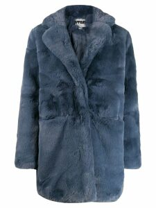 Apparis textured furry coat - Blue