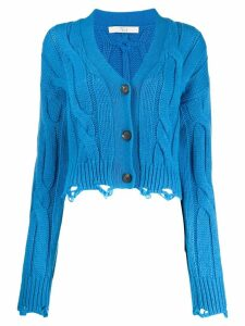 Tela distressed knit cardigan - Blue