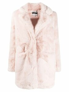 Apparis textured furry coat - PINK