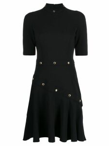 Versace Jeans Couture studded A-line dress - Black