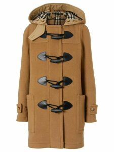 Burberry Wool Blend Duffle Coat - Neutrals