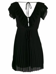 Twin-Set ruffled collar mini dress - Black