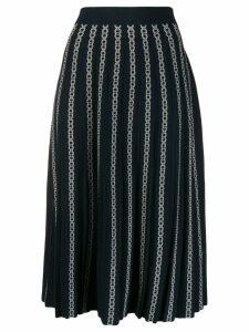 Tory Burch high waisted pleated skirt - Blue