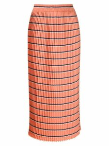 À La Garçonne pleated midi skirt - Orange