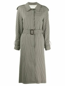 Sandro Paris checked trench coat - Brown