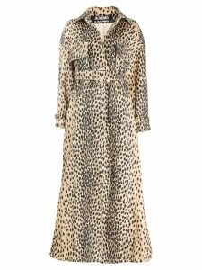 Jacquemus Thika leopard print oversized trench - Brown