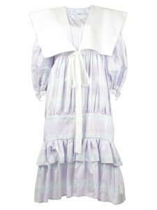 Vaquera tiered ruffle dress - Purple
