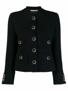 Alessandra Rich tailored decorative button jacket - Black