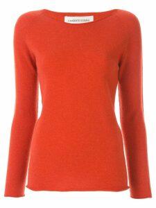 Lamberto Losani long-sleeve fitted sweater - Orange