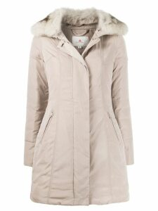 Peuterey zipped parka coat - NEUTRALS