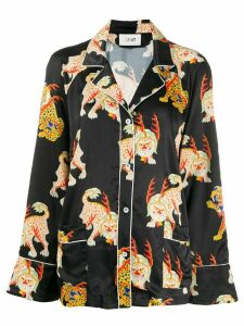 Kirin mythical creature printed shirt - Black