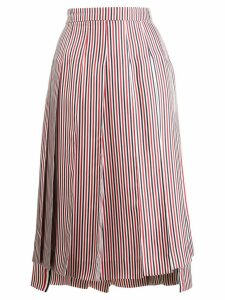 Thom Browne RWB Silk Lining Skirt - Red