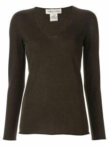 Lamberto Losani v-neck jumper - Brown
