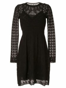 M Missoni long-sleeved knitted dress - Black