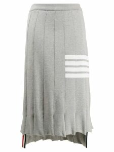 Thom Browne 4-Bar Trompe L'oil Skirt - Grey