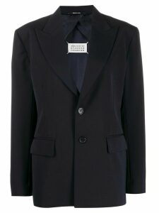 Maison Margiela back slit boxy-fit blazer - Blue