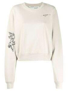 Off-White animals portrait sweatshirt - Neutrals