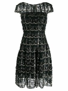 Talbot Runhof Noix metallic dress - Black