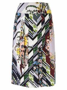 Tory Burch floral print pleated skirt - Multicolour