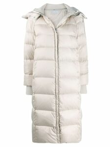 Patrizia Pepe padded zip-up coat - Neutrals