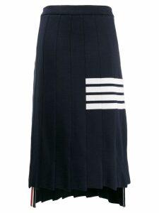 Thom Browne 4-Bar Trompe L'oeil Skirt - Blue