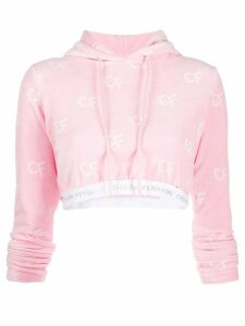 Chiara Ferragni cropped hoodie - Pink