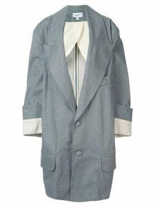Vaquera oversized long-line blazer - Grey